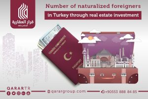Number of naturalized foreigners in Turkey through real estate investment
